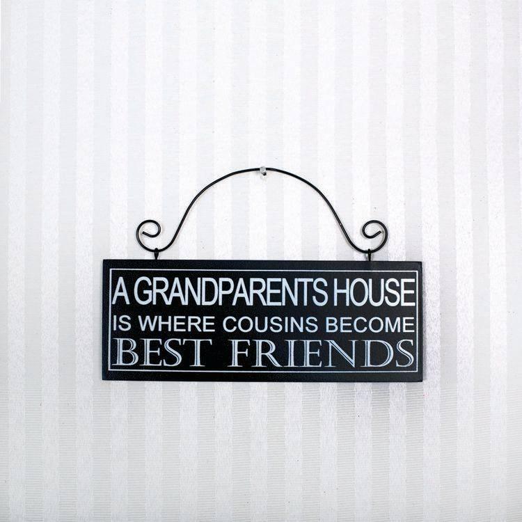 Fleurish Home Grandparents House Sign 8x3