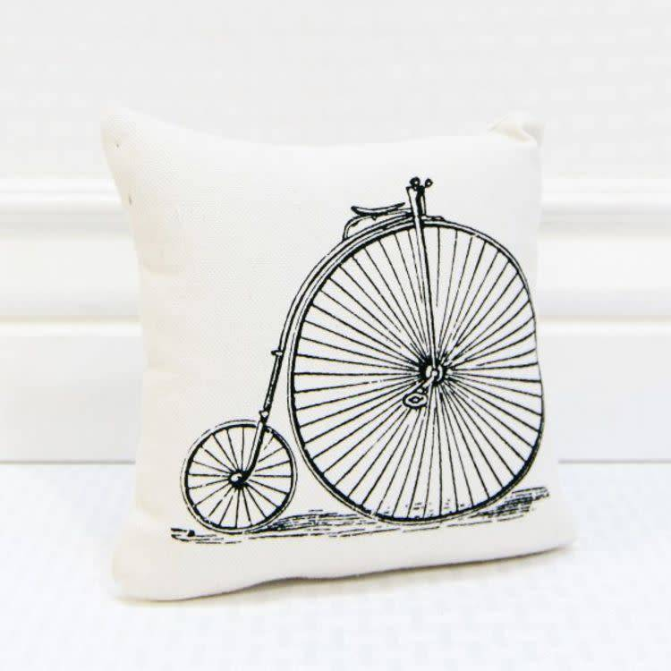 High Wheel Bicycle Pillow