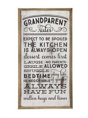 Grandparent Rules Wall Art Sign