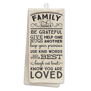 Family Rules Kitchen Tea Towel