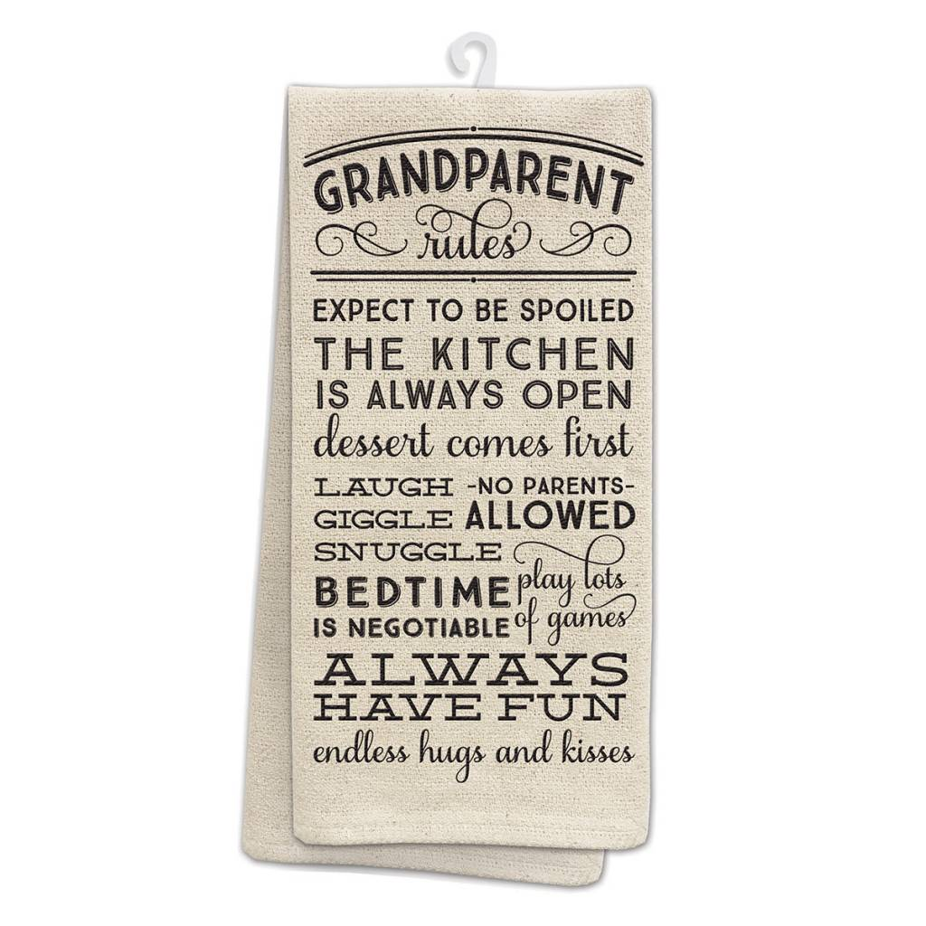 Grandparent Rules Kitchen Tea Towel