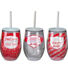 Gameday Acrylic Tailgate Wine Cup (3 styles)