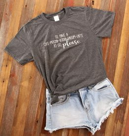 Fleurish Home Cafe Mocha Vodka Latte Quote Tee