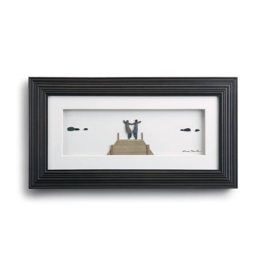 Anywhere With You Pebble Wall Art 15x8