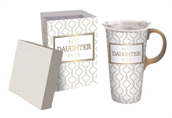 Best Daughter Ever Ceramic Travel Mug w Box