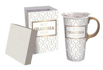 Best Grandma Ever Ceramic Travel Mug w Box
