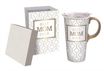 Best Mom Ever Ceramic Travel Mug w Box