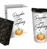 Pumpkin Spice Everything Fall Ceramic Travel Mug w Box