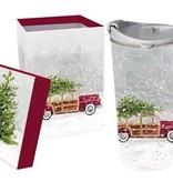 Fleurish Home Vintage Station Wagon Holiday Ceramic Travel Mug w Box