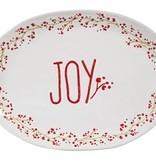 Fleurish Home Holiday Farmhouse Ceramic Joy Platter