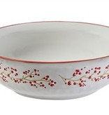 Holiday Farmhouse Ceramic Serving Bowl