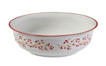Fleurish Home Holiday Farmhouse Ceramic Serving Bowl