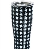 Houndstooth Stainless Steel Beverage Cup