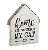 Fleurish Home Home is Where My Cat Is Wooden Block