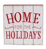 Home for the Holidays Wooden Wall Art