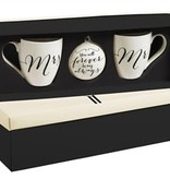 Mr & Mrs Holiday Ornament & Mugs Gift Set