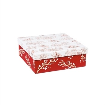 Fleurish Home Box of Holiday Farmhouse Paper Luncheon Napkins (60ct)