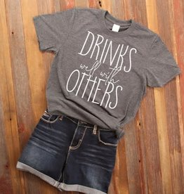 Fleurish Home Drinks Well With Others Quote Tee