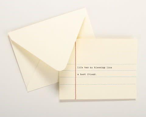 Fleurish Home Hand Sewn Card (various)