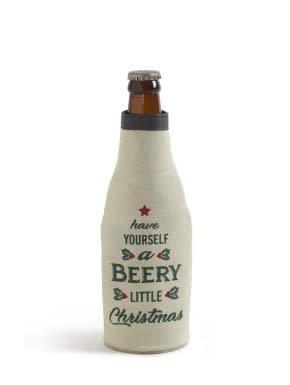 Beery Christmas Bottle Koozie