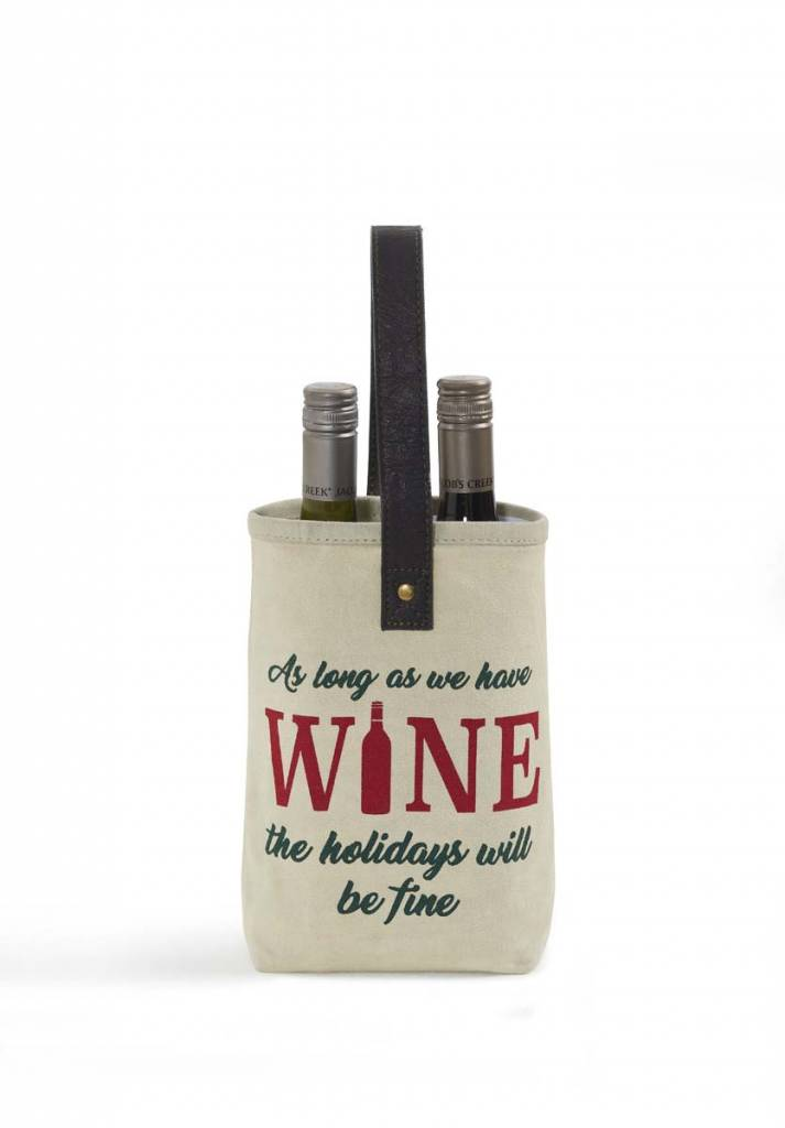Christmas Double Wine Bag