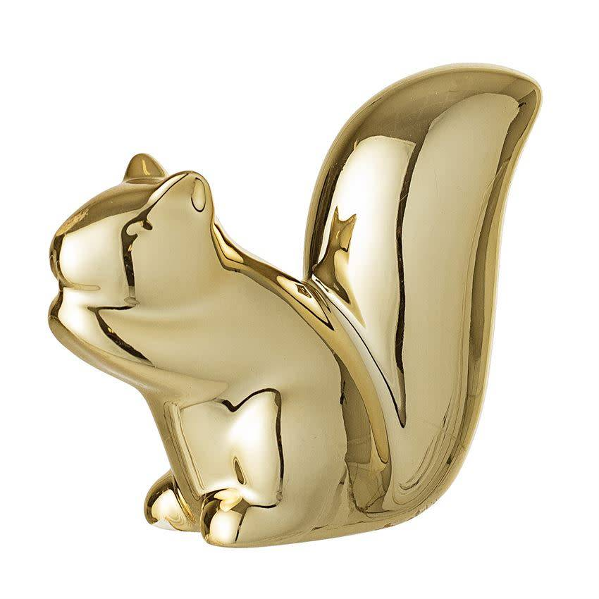 Gold Plated Porcelain Squirrel