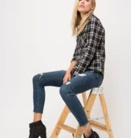 Fleurish Home Fall Fashion Plaid Top