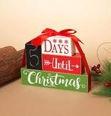 Days Until Christmas Wood Blocks