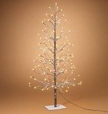 Electric Snowy Tree 4'H w 128 lights