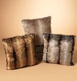 Fleurish Home Faux Fur Pillow (choice of 3 colors)