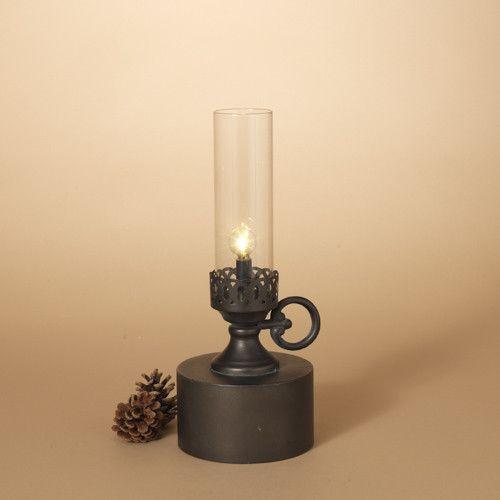 Fleurish Home Antique Candle Style B/O Metal Lantern