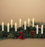 Set of Set of 10 Remote Control Clip-On Candles (greenery NOT included)