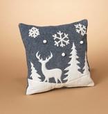 Nordic Winter Scene Pillow