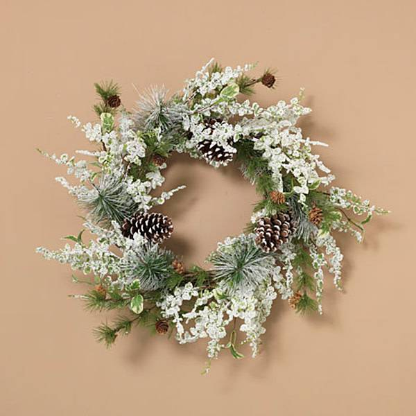 Holiday Frosted Pine Wreath