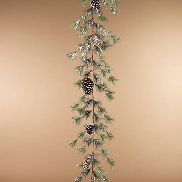 Holiday Snowy Pine Garland 5'