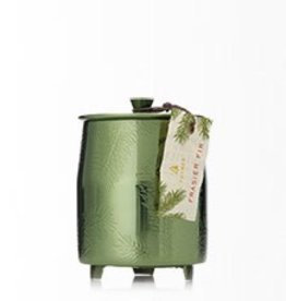 Thymes Frasier Fir Green Metal Poured Candle Tin