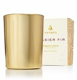 Thymes Frasier Fir Votive Candle Gold