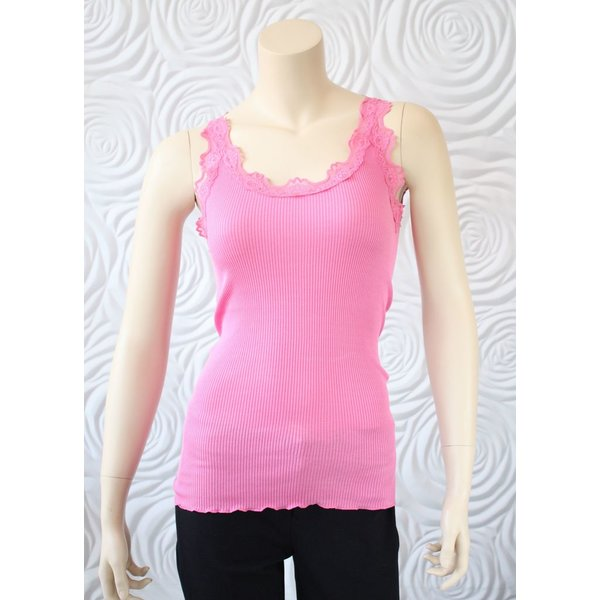 Rosemunde Cotton/Silk Tank with Lace Trim
