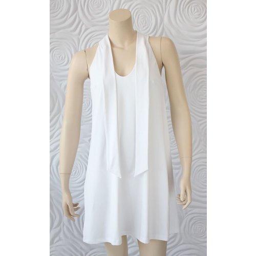 Susana Monaco Susana Monaco Tunic Shirt Dress with Tie Neck Detail