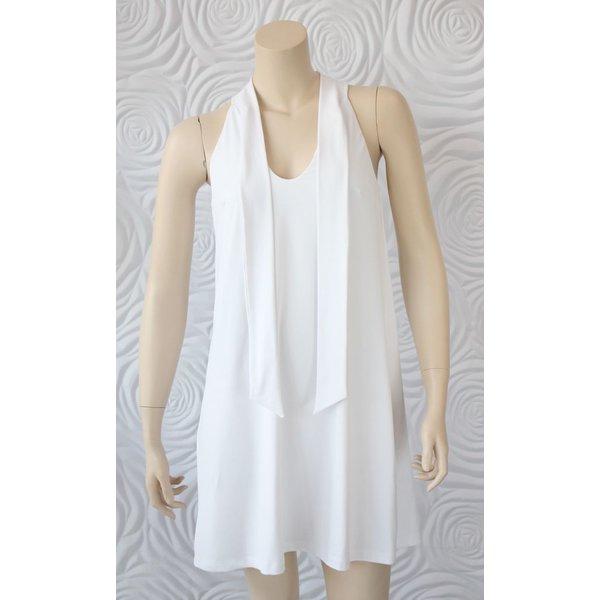Susana Monaco Tunic Shirt Dress with Tie Neck Detail