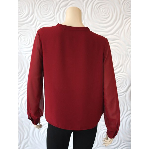 Weill Crossbody Blouse with Sheer Sleeve