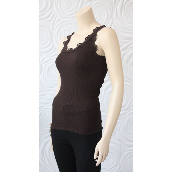 Rosemunde Silk Regular Top with Vintage Lace