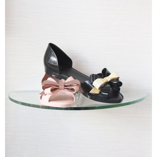 Melissa Shoes Melissa Open Toe Ballet Flat Bow Front Detail