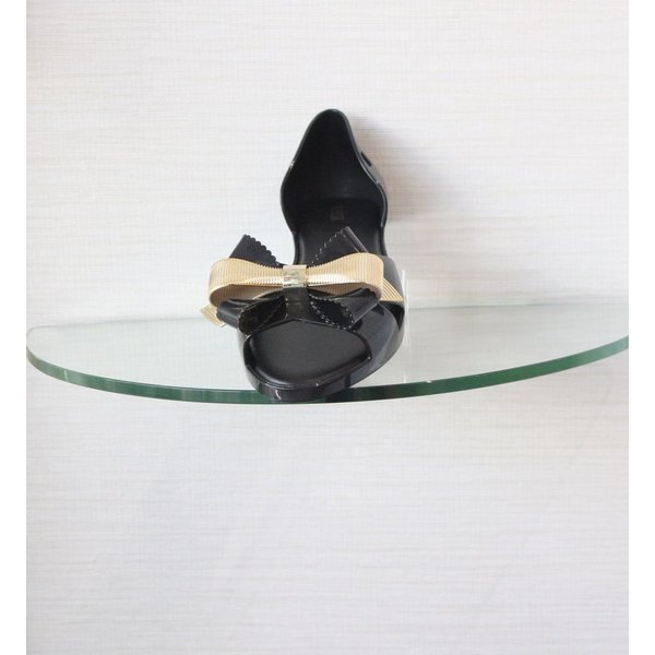 Melissa Open Toe Ballet Flat Bow Front Detail