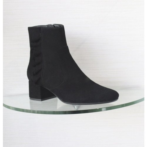 Kanna Kanna Ankle Boot with Ruffle Detail