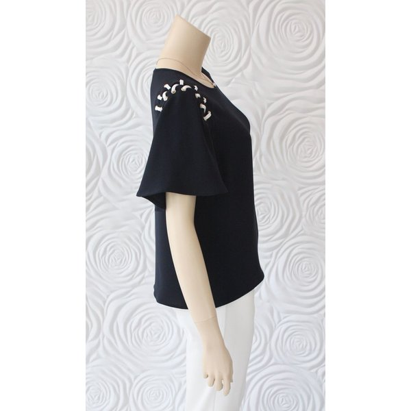 Weill Blouse  Lace Up Shoulder