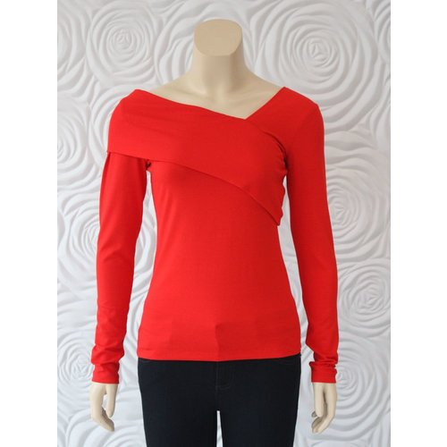 Donna Degnan Donna Degnan Solid Asymetrical Knit Top