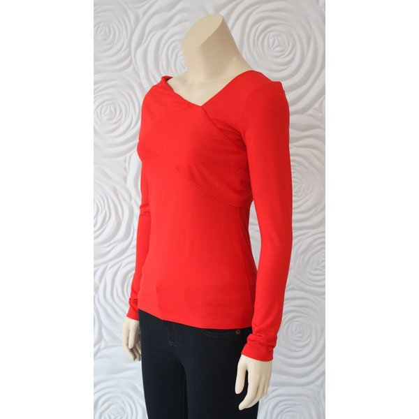 Donna Degnan Solid Asymetrical Knit Top