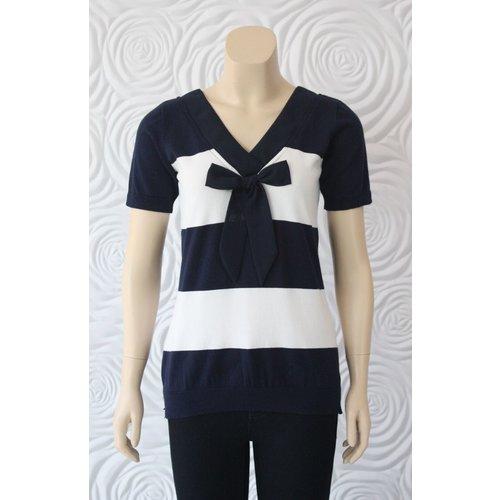 Leo Guy Leo Ugo Stripe Shirt With Bow Detail