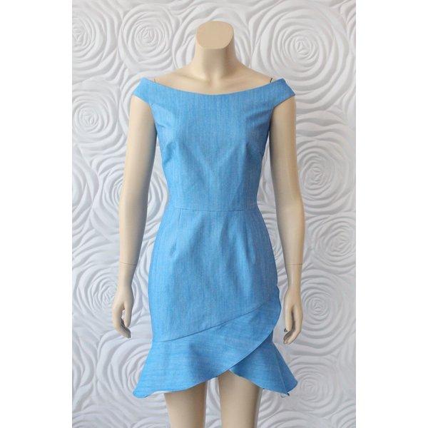 Minan Wong Denim Dress with Slight Off Shoulder